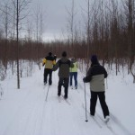 Cross country skiing on our trails