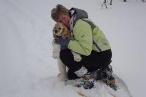 Emma enjoying the winter trails