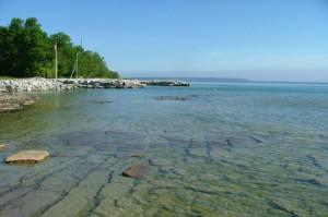 Shoreline looking north