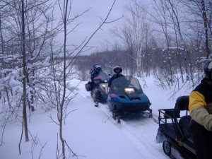 Snowmobiling on our Trails