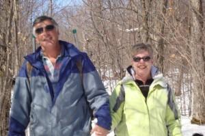 Tony & Sue enjoying a spring walk